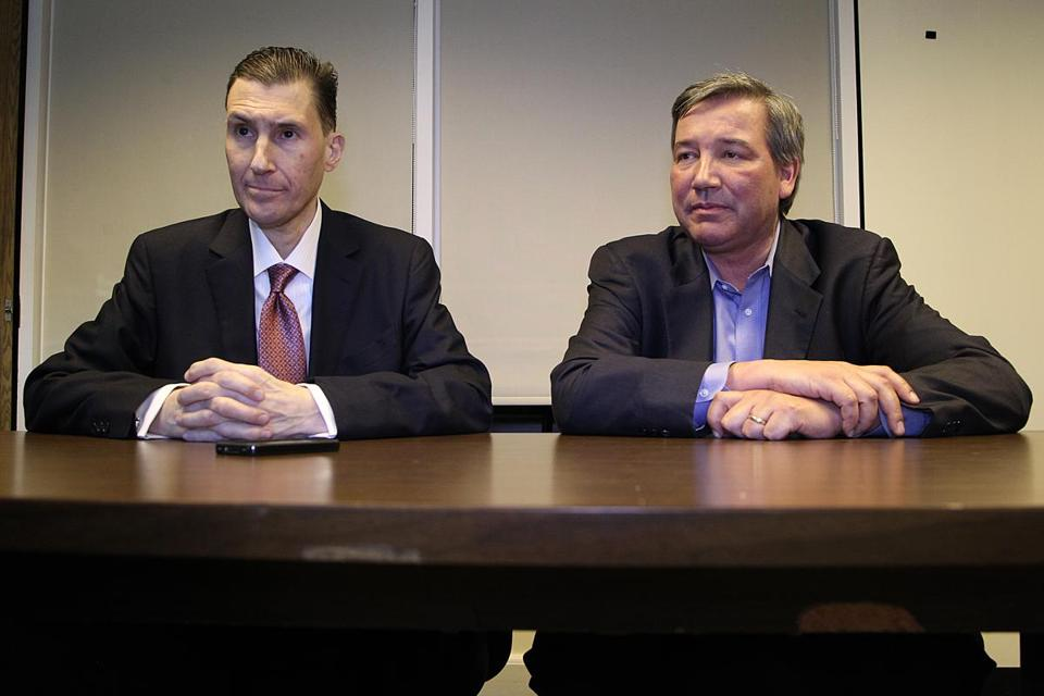 Scott Butera (left), chief executive of Foxwoods, and developer David Nunes