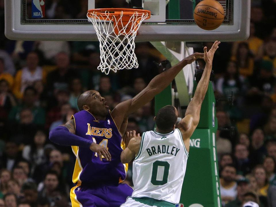 The Celtics have spread out the offense; defensive wizard Avery Bradley went over Kobe Bryant Thursday.