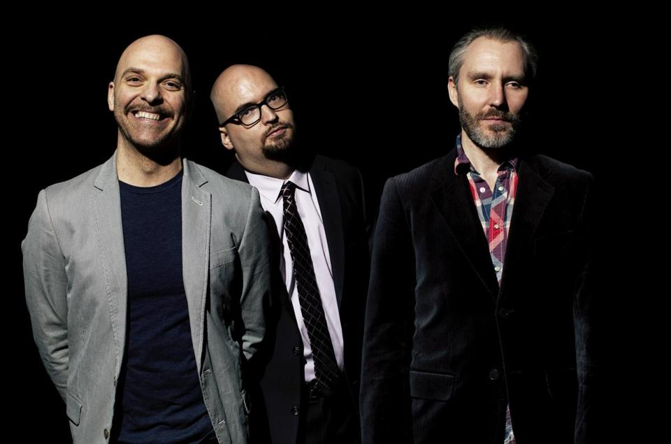 The Bad Plus is (from left) drummer David King, pianist Ethan Iverson, and bassist Reid Anderson.