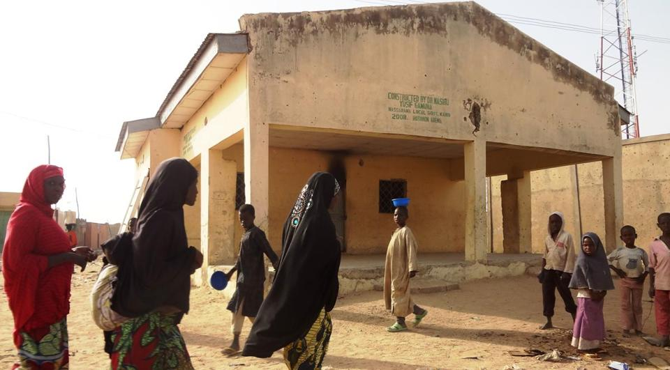Attacks on polio clinics, such as this one in the Nigerian city of Kano, contribute to the disease's hold in the country.