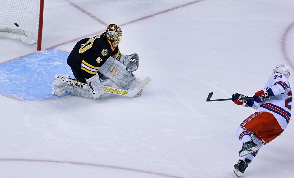 Ryan Callahan beat Bruins goalie Tuuka Rask in the shootout to seal the win for the Rangers.