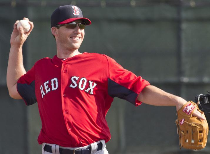 Stephen Drew was on a practice field for the second day of spring training.