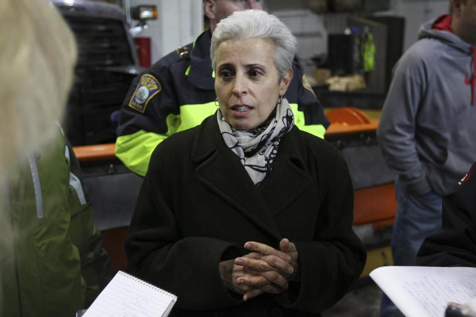 Joanne Massaro oversees Boston's snow removal effort.