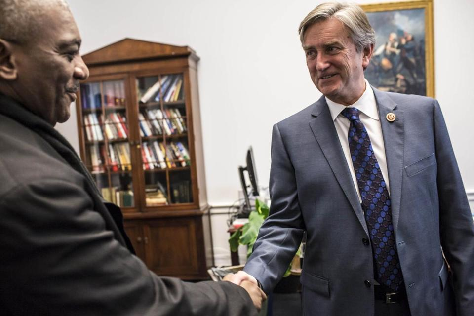 US Representative John Tierney in his Capitol Hill office in February.