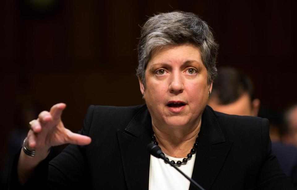 Janet Napolitano testified before a panel Wednesday.