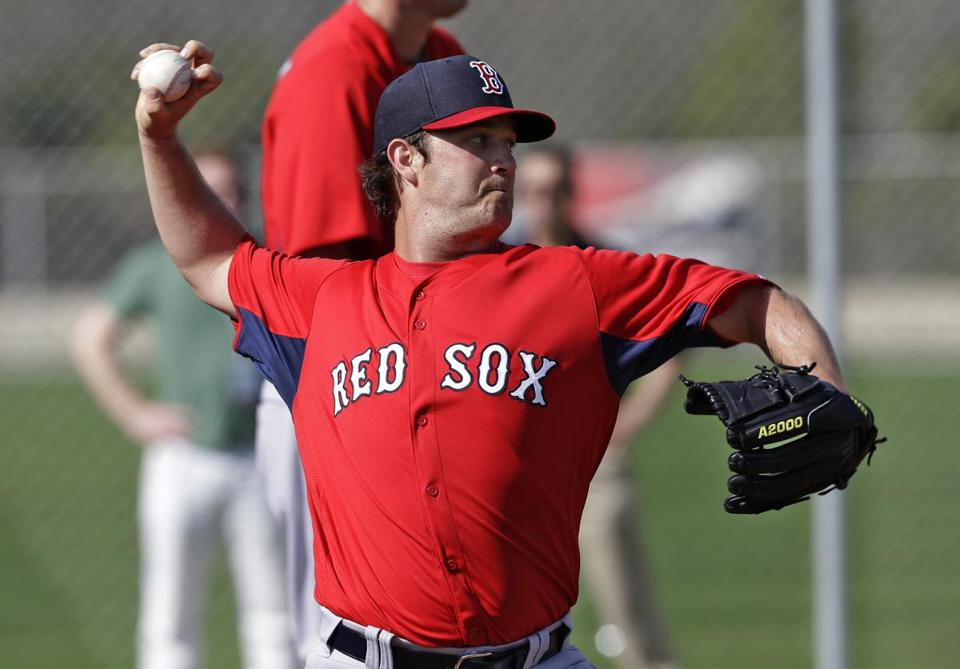 Steven Wright would like to get his hands on a spot in the Red Sox' starting rotation.