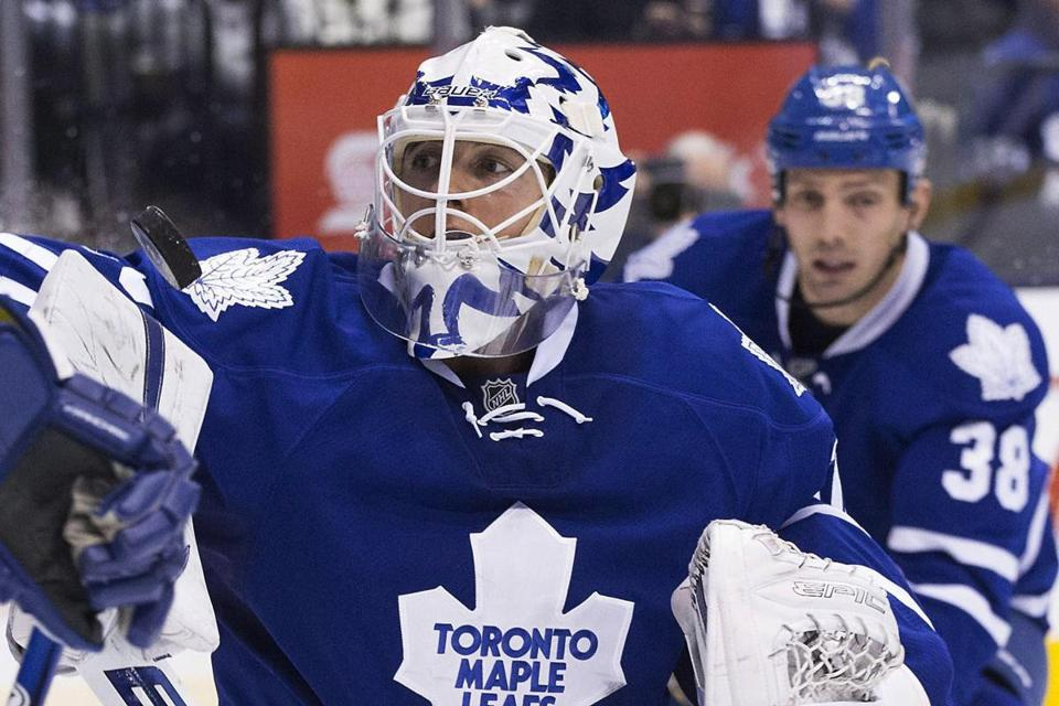 Maple Leafs goaltender Ben Scrivens was making his second straight start since James Reimer injured a knee in Monday's win over Philadelphia.