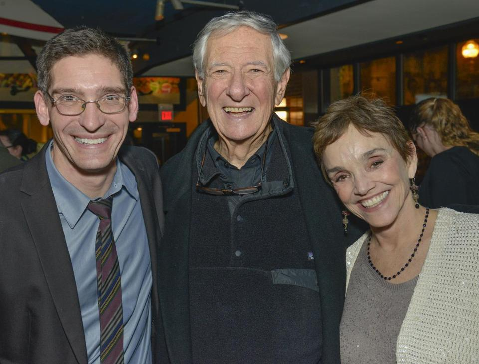 "From left: Steven Maler, Robert Brustein, and Brooke Adams after the world premiere of ""The Last Will."""