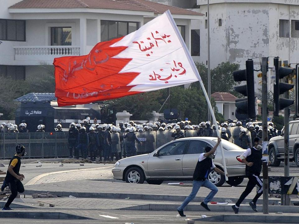 Bahraini protesters cashed with police during a funeral march for a youth allegedly killed by police.