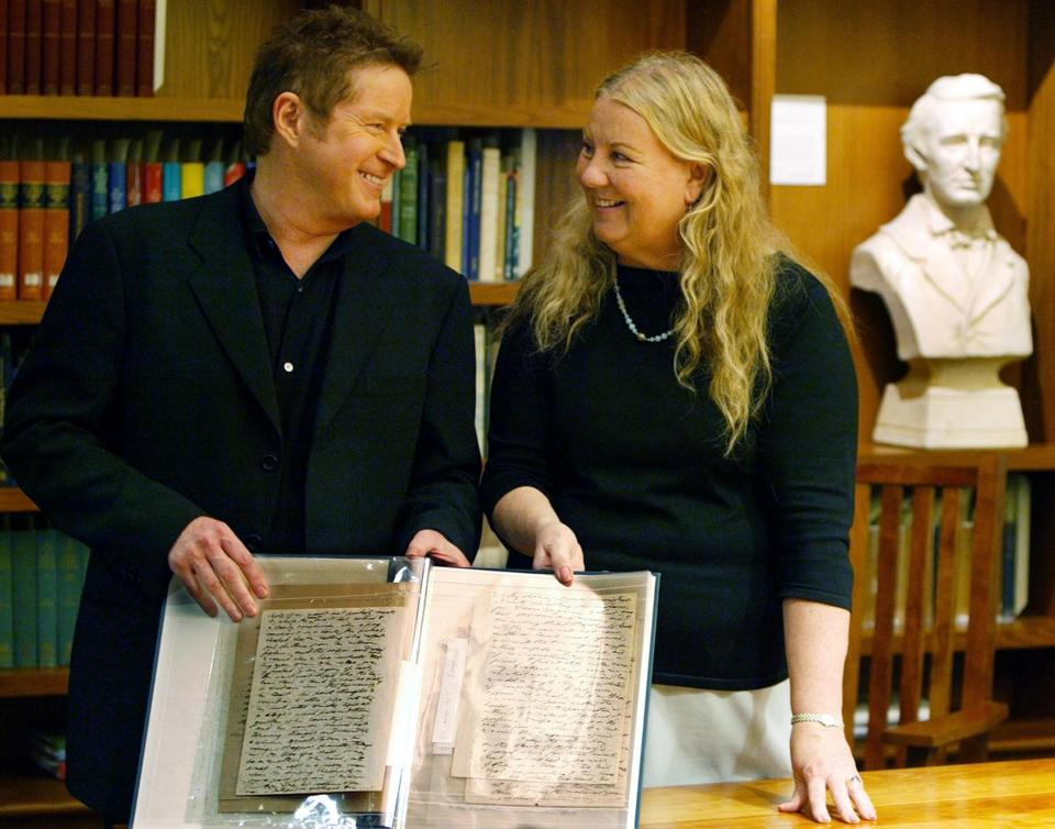 Don Henley, founder of the Walden Woods Project (left) and Kathi Anderson, executive director.