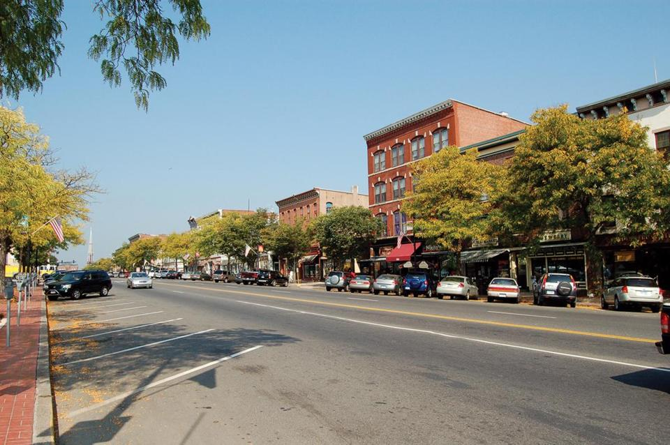 Wide and old-fashioned, Main Street in Middletown, Conn., runs along the Connecticut River.
