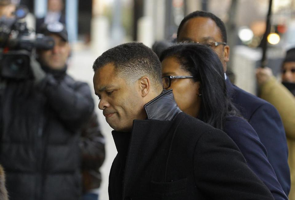 Jesse Jackson Jr. entered the US District Federal Courthouse in Washington on Wednesday.