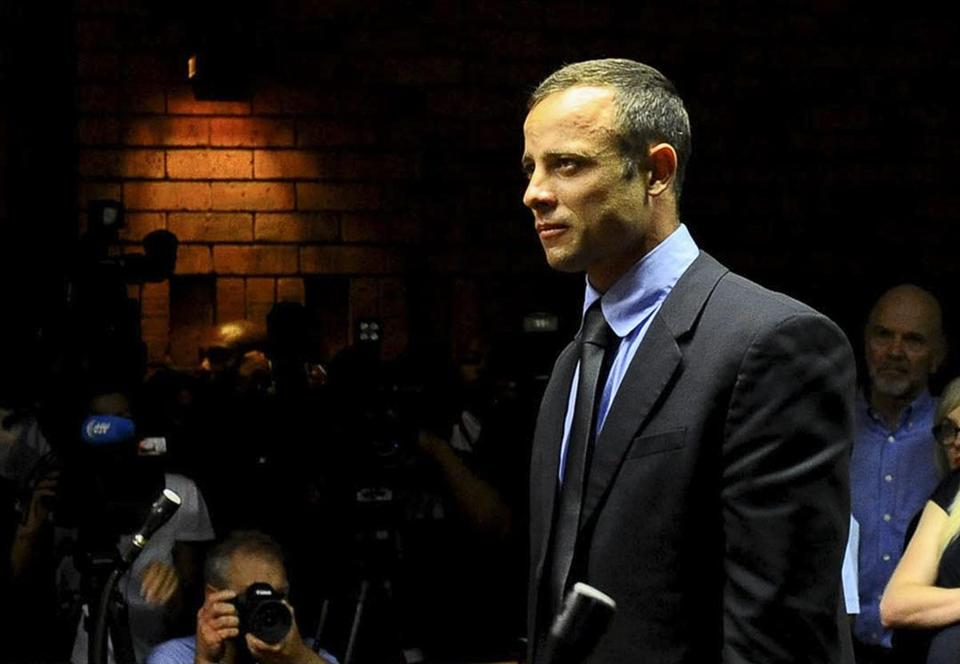 Oscar Pistorius at his bail hearing in the Magistrates Court in Pretoria, South Africa.