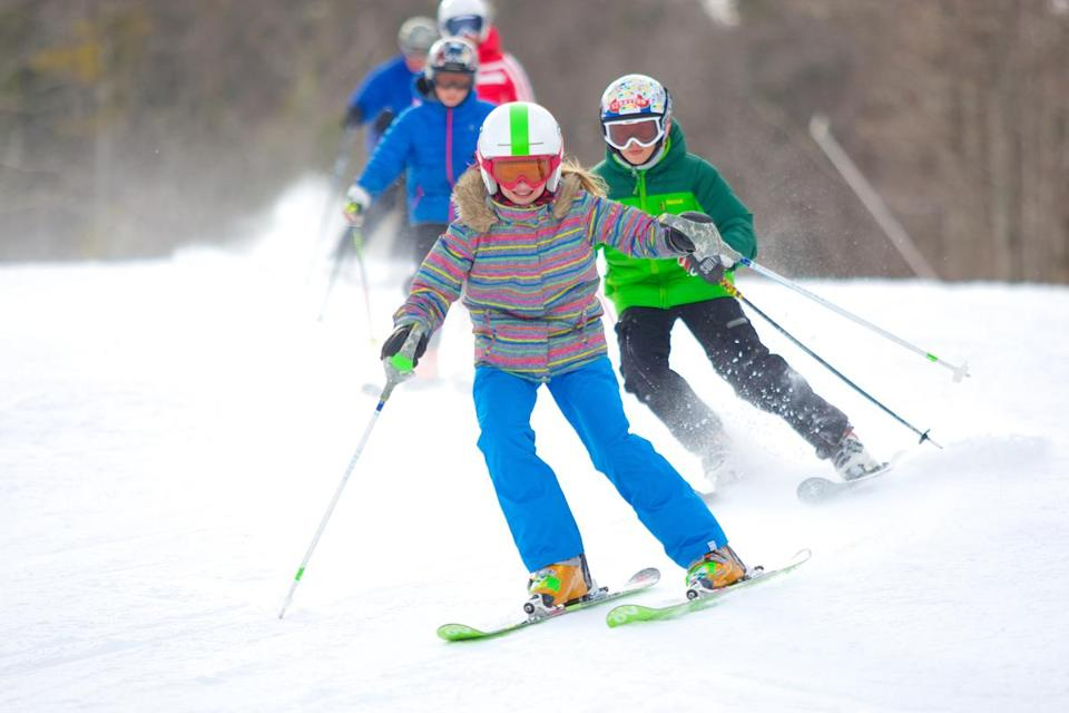 The benefits of a snowstorm? A solid base for skiers, who have flocked to the slopes.