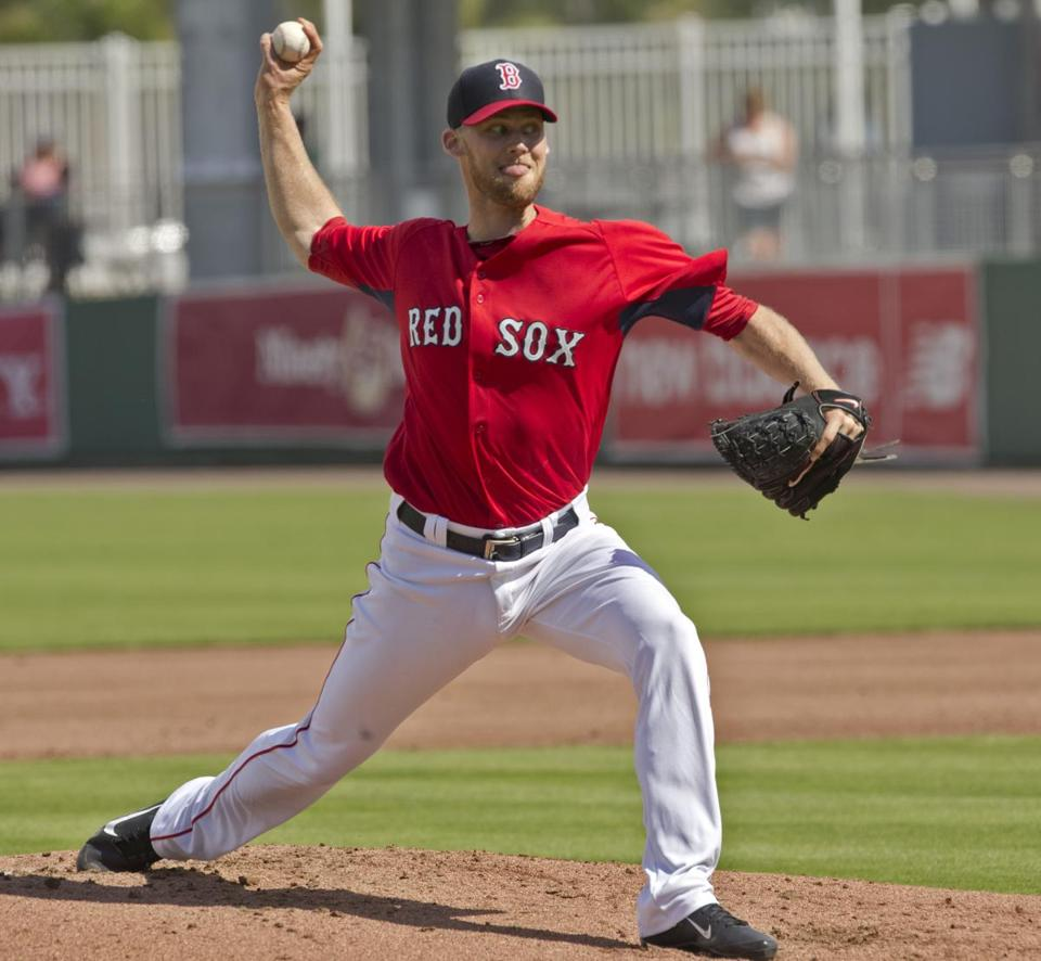 Daniel Bard, who struggled in 2012, gave up a single to the first batter he faced, then struck out the next three.