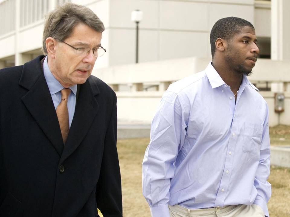 Alfonzo Dennard was accompanied by his attorney, Terry Dougherty, as they arrived at the Lancaster County Courthouse in Lincoln, Neb., Wednesday.