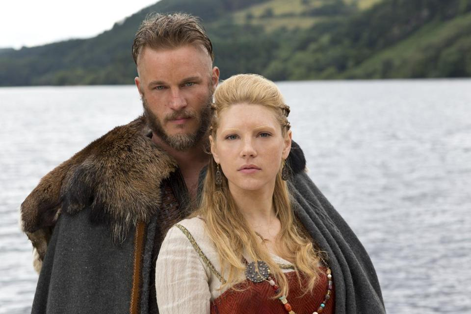 "Travis Fimmel and Katheryn Winnick costar in ""Vikings,"" a nine-part series on the History Channel."