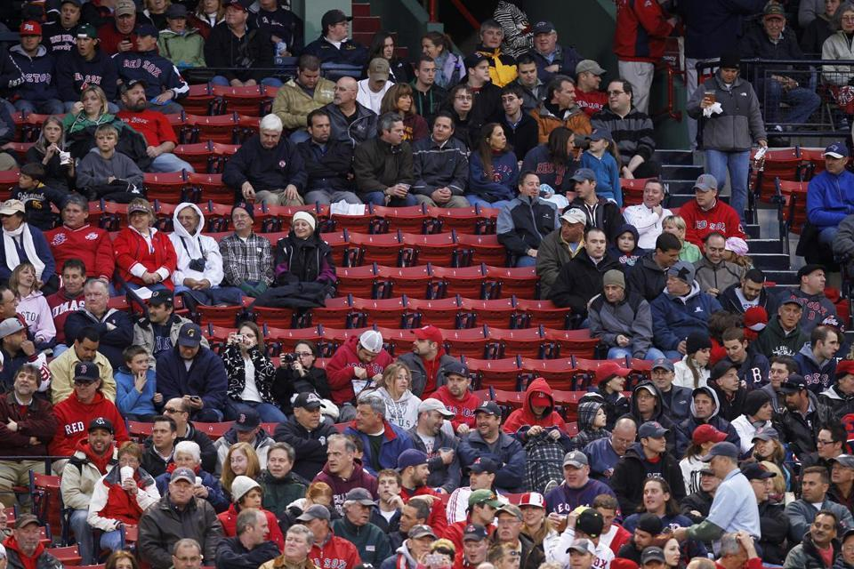 Empty seats may be a familiar sight at Fenway Park this season.