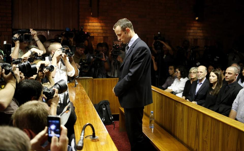 Oscar Pistorius stood in court on Friday.