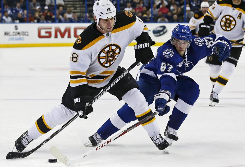 Nathan Horton had two goals as the Bruins beat the Lightning, 4-2.