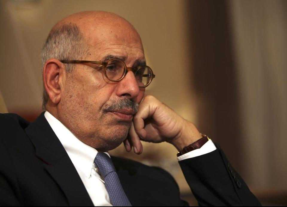 "Mohamed ElBaradei said holding elections at this time ""is a recipe for disaster."""