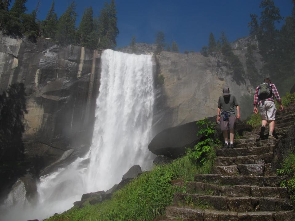 Vernal Fall is among the attractions at Yosemite, which is preparing for possible cutbacks.