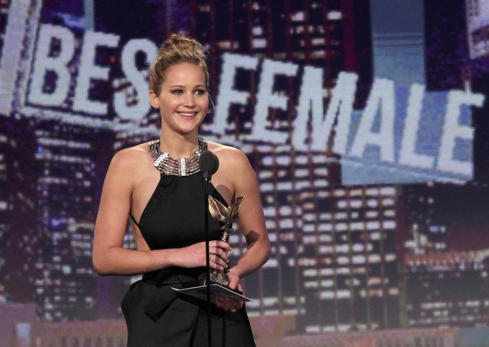 "Jennifer Lawrence won the best female lead award for ""Silver Linings Playbook'' at the 2013 Film Independent Spirit Awards."