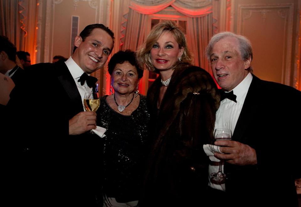 From left: Juan Guillermo Uribe Rubio, Doris Yaffe, Hollis Colby, and David Cylkowski at the Feast of Music after-party on Saturday night.