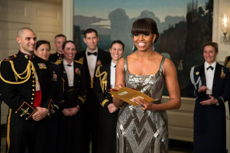 Michelle Obama announced the Best Picture Oscar from the White House.