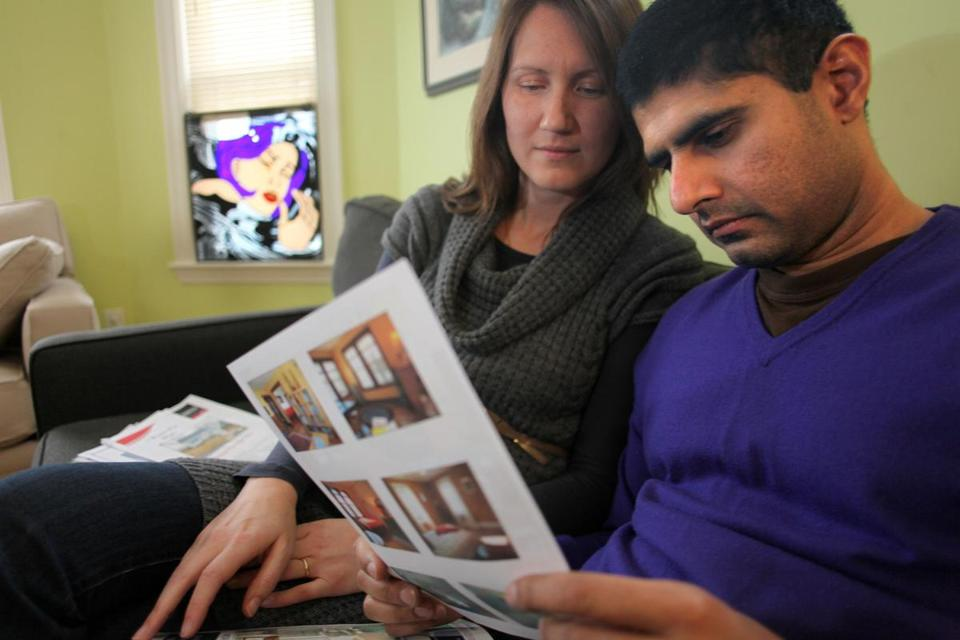 Emily Glass (left) and her husband Venkat Korvi would like to sell their condo and move into a bigger house but they can't find anything suitable. Home inventories are at an eight-year low and everyone is asking: Where are the sellers?