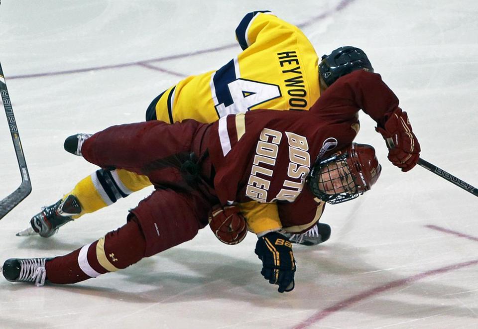 Hockey East: Boston College Hockey Team Happy To Claim Win Against Merrimack