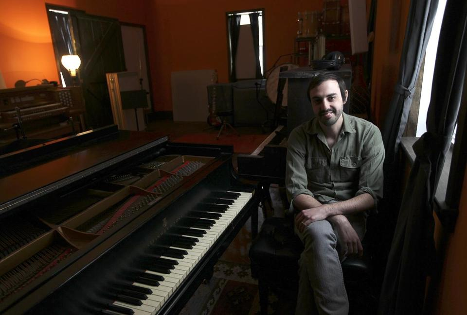 Sam Kassirer, 32, of Arlington, produces recordings in his studio (sometimes the rooms of the house) in Maine. He has played piano since he was 7, and been Josh Ritter's keyboardist for 12 years, along with producing three Ritter albums.