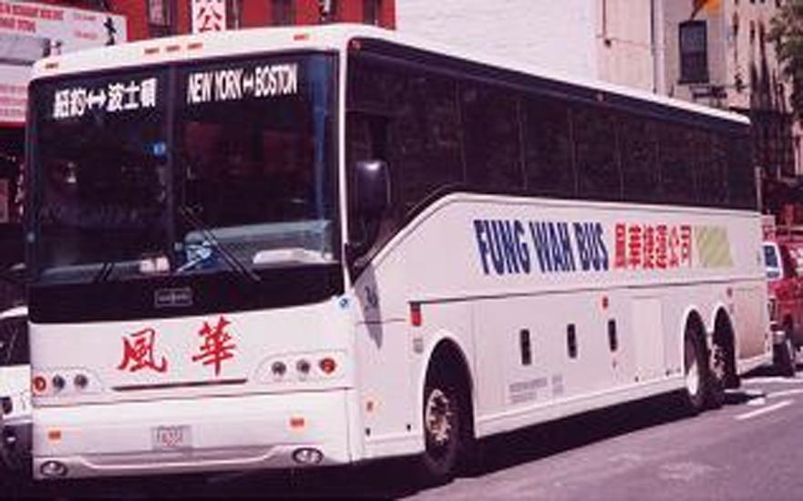 A Fung Wah bus is seen in a 2003 photo.