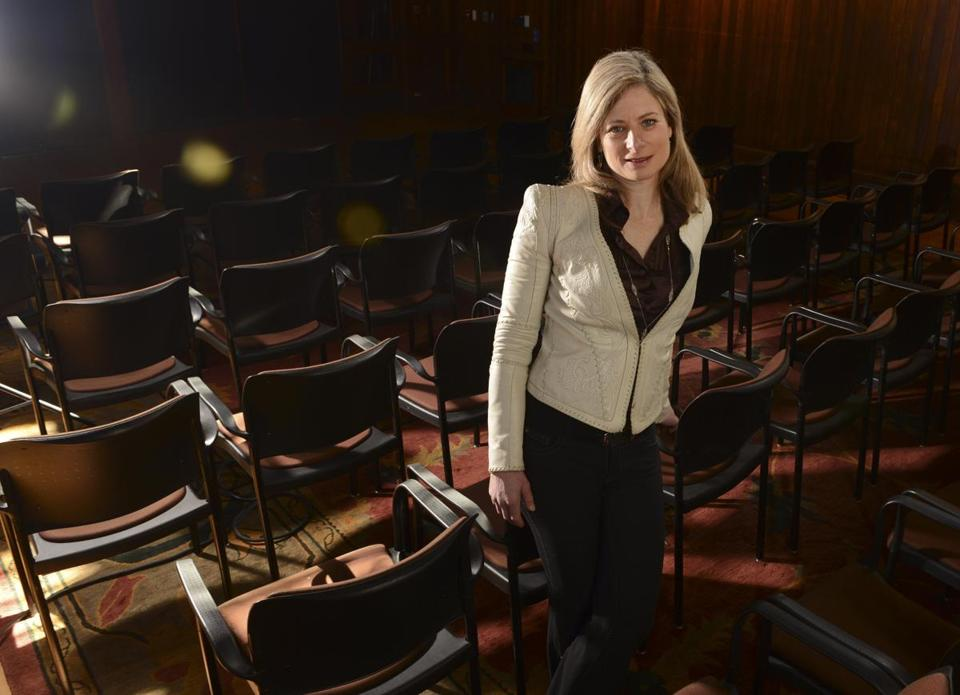 Lisa Randall at the Radcliffe Institute for Advanced Studies at Harvard University.