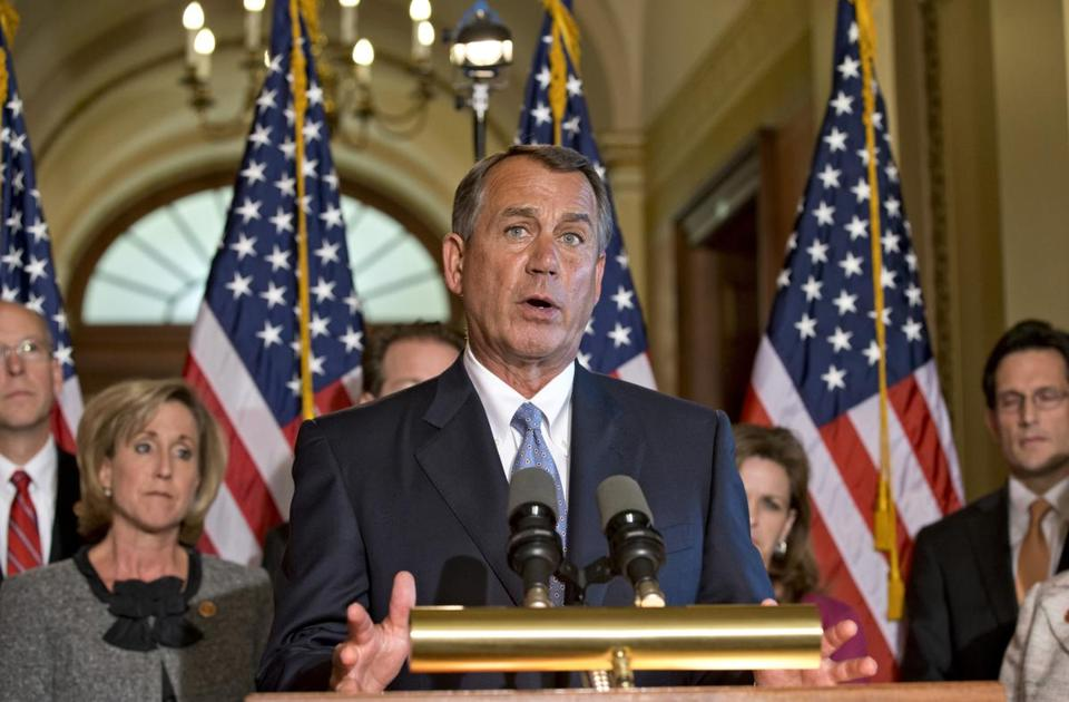 House Speaker John Boehner of Ohio and other House Republicans said that raising more taxes is not an option.