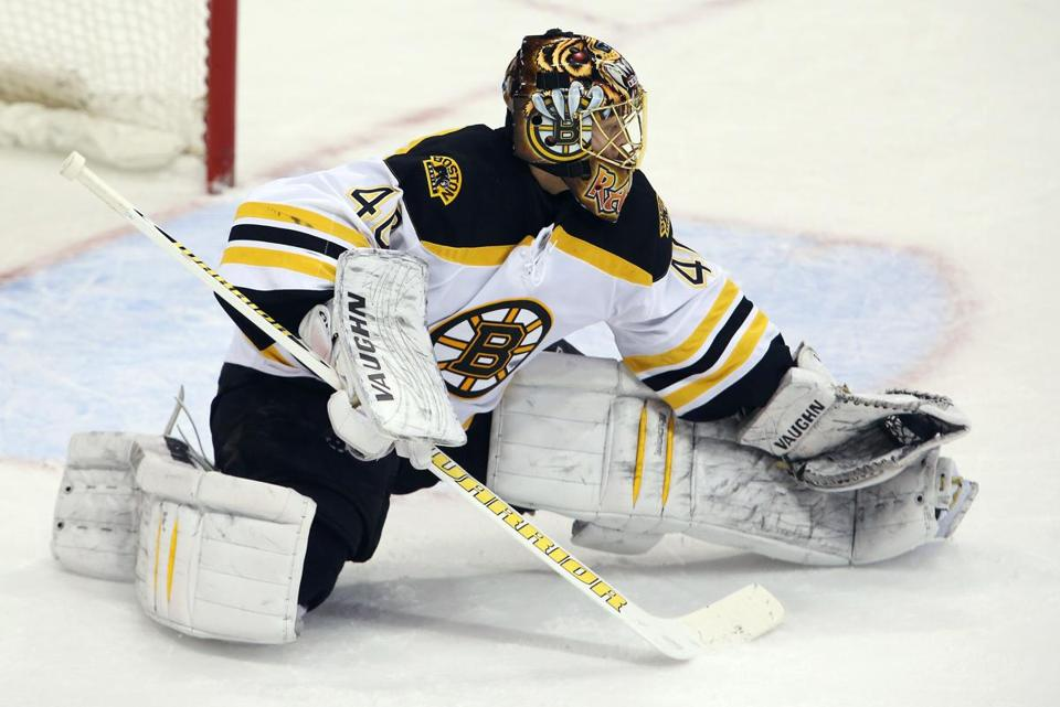 Bruins goalie Tuukka Rask has a 9-1-2 record this season.