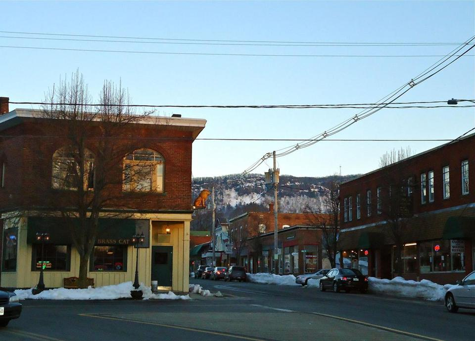 Cottage Street is filled with galleries, shops, cafes, and more.