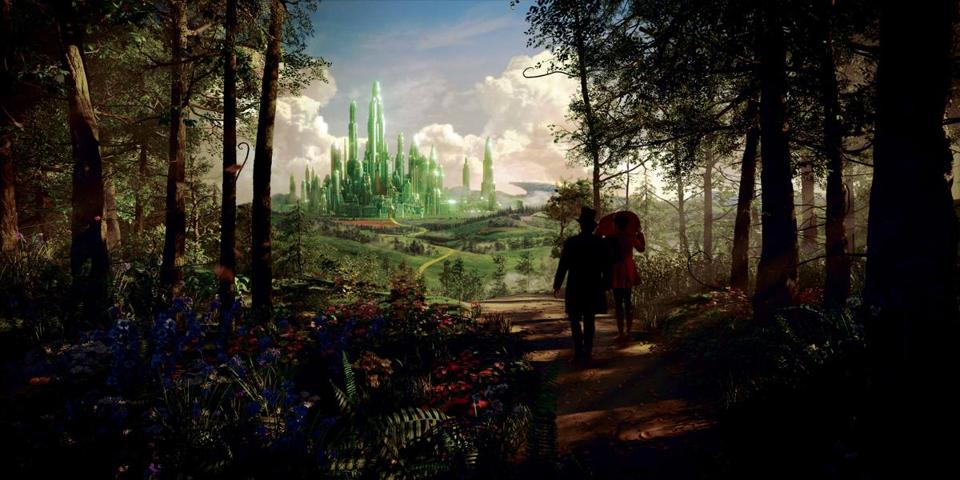 "The Land of Oz in the film ""Oz: The Great and Powerful,"" directed by Sam Raimi."