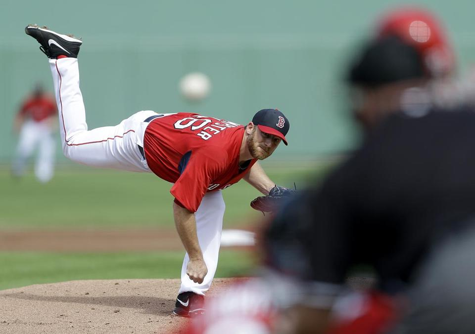 Ryan Dempster pitched two scoreless innings, earning praise from manager John Farrell.