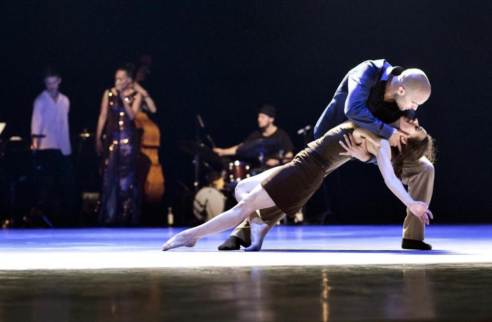 "Stefanos Bizas and Ana Sendas in Danish Dance Theatre's production of ""Love Songs."""
