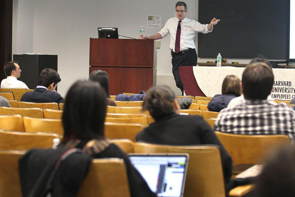 Thomas Murphy addressed Harvard students
