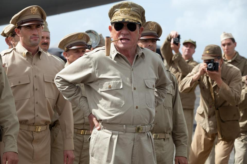 "In ""Emperor,"" Tommy Lee Jones stars as General Douglas MacArthur in postwar Japan, deciding whether to recommend Hirohito be charged with war crimes."