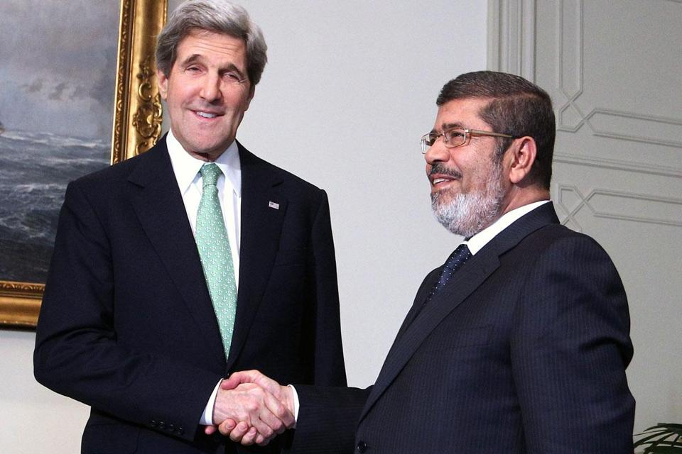 Secretary of State John Kerry met with a series of Egyptian leaders, including President Mohammed Morsi.