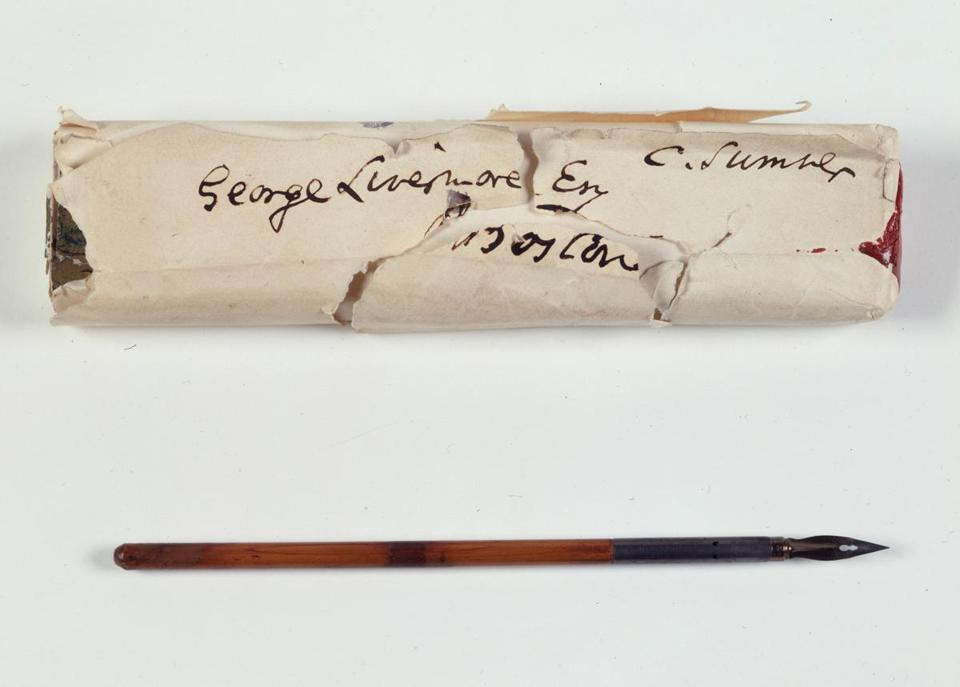 Pen used by Abraham Lincoln to sign the Emancipation Proclamation, January 1, 1863.
