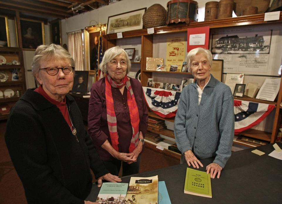 "Three authors of the ""Tricentennial Handbook"": Audrey Ritter , Grace Hoag, and Priscilla Howker."