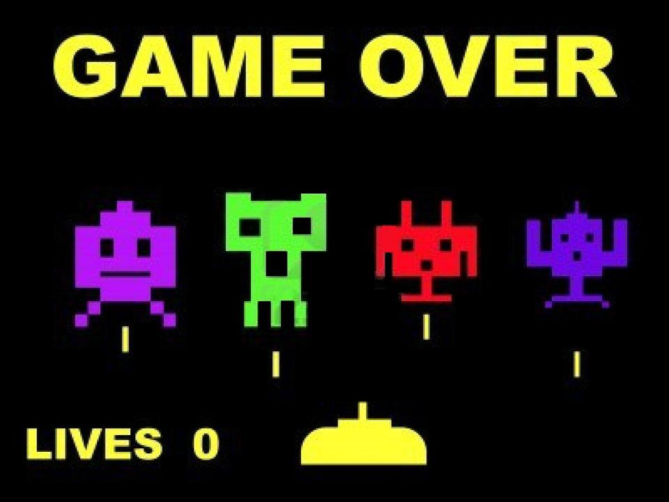 Game Over screen for Space Invaders