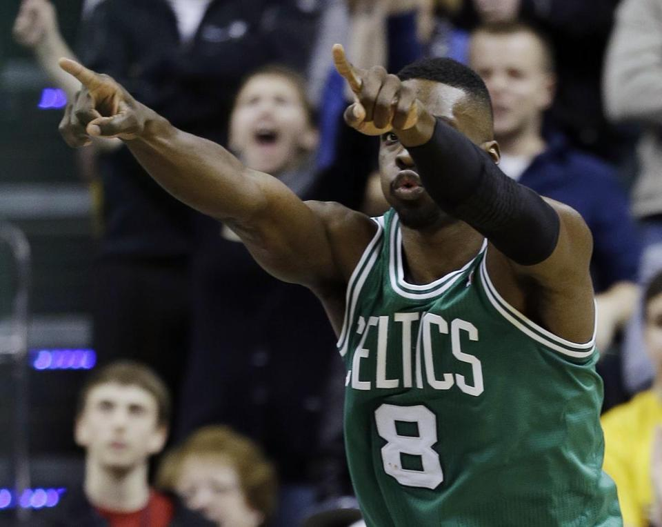 Jeff Green celebrated scoring the game-winning basket against the Pacers.