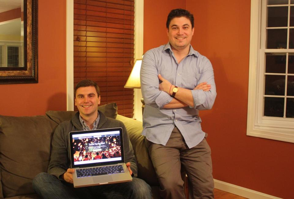 Adam Coughlin (left) and Jamie Coughlin are the founders of PlusGrace, a for-profit company that charges 5 percent on donations above $10. Prayer-seeker campaigns are free.