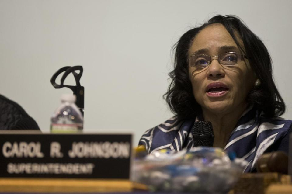 Boston School Superintendent Carol R. Johnson.