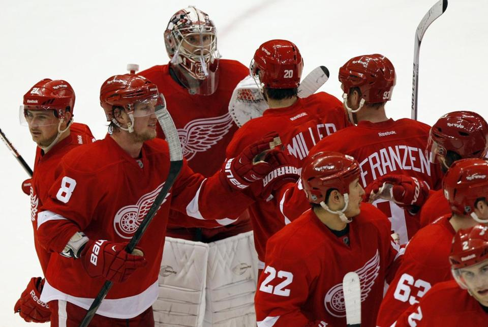 The Red Wings would move to a new division with the Bruins under the proposed NHL realignment plan.